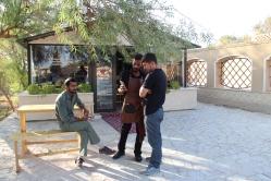 Um Basij, polícia religiosa, em Abarkuh