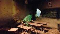 Modelo de escola bombardeada