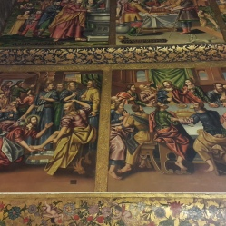 Última ceia e lavagem dos pés dos apóstolos por Cristo